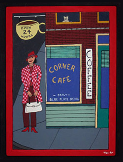 Corner Cafe by Mark O'Malley