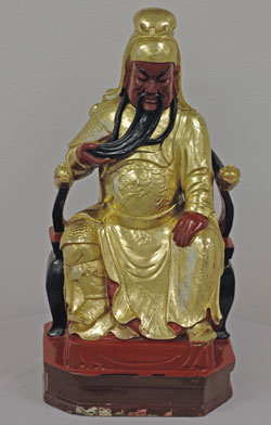 Kuan Kong: Seated God of War - gilded and lacquered wood